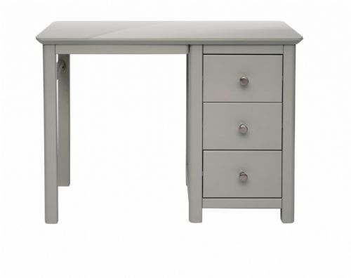 Elgin Grey and Glass Single Pedestal Dressing Table